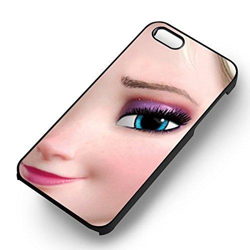 Unique Frozen Elsa Close Up pour Coque Iphone 5 or Coque Iphone 5S or Coque Iphone 5SE Case (Noir Boîtier en plastique dur) T3A3IS