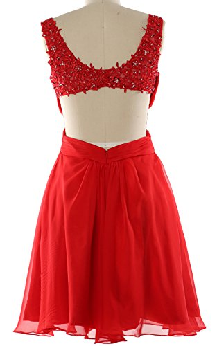 MACloth Women Strap V Neck Short Prom Homecoming Dress Wedding Party Formal Gown Aqua