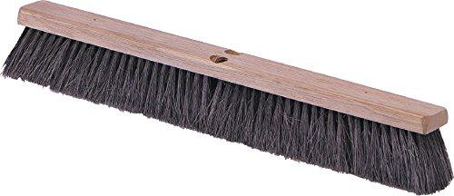 Carlisle 4505103 Flo-Pac Fine/Medium Floor Sweep, Tampico Bristles, 14'' Block Size, 3'' Bristle Trim, Black by Carlisle