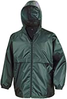 Result Mens Core Adult Windcheater Water Repellent Windproof Jacket (S) (Emerald)