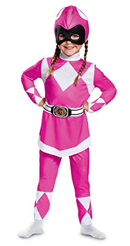 Disguise Pink Ranger Toddler Classic Child Costume, Pink, Size/(2T)]()
