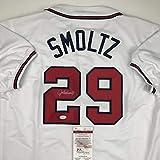 Autographed/Signed John Smoltz Atlanta White