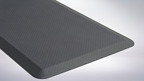 "The Original 3/4"" KANGAROO (TM) Non-Slip Anti-Fatigue Comfort Mat, Ergonomically Engineered, Non-Toxic, Waterproof, 32x20 inches (Gray)"