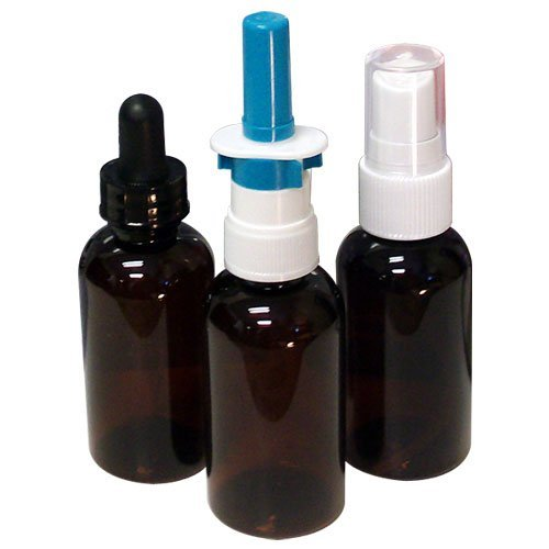 Top Silver Dropper (Colloidal Silver Applicator and Travel Kit, Highest Quality Amber Glass 3-Pack w/ 1oz Mist Sprayer, 1oz Nasal Sprayer, and 1oz Dropper)