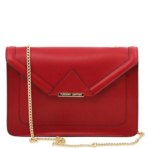 Leather en à bandoulière iRide Cuir chaîne Rouge à Sac et Tuscany Main Bordeaux SfwgOOx