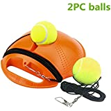 Lazapa Tennis Trainer Rebounder Ball, Outdoor Tennis Trainer with Imitation Tennis Design, Perfect Solo Tennis Trainer - Rebound Baseboard Fit for Tennis Beginner Training + 2 Balls