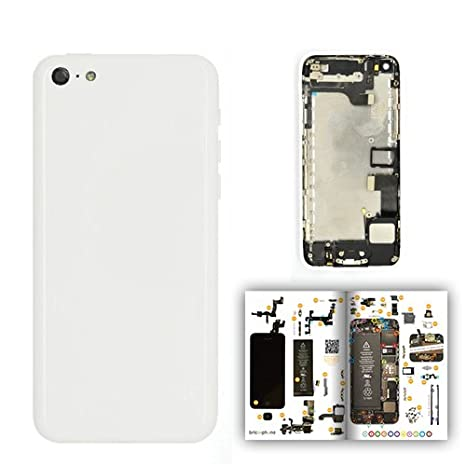 Carcasa trasera blanca para iPhone 5 C premontada con ...