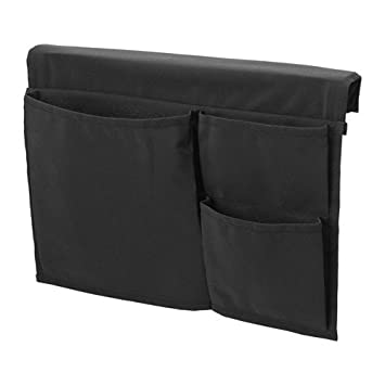 Ikea Bett Utensilo Stickat Betttasche In Schwarz Amazon De Kuche