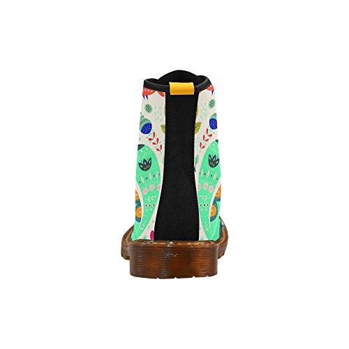 Scarpe Da D-story Coloratissime Scarpe Stringate Di Gatto Martin Per Donna