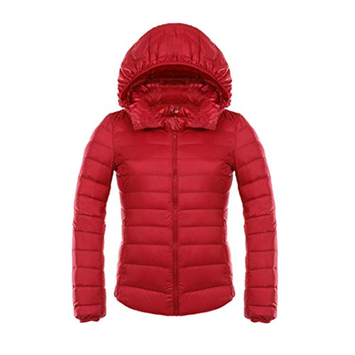 Ultra Invernale Rosso Duck Jacket Light Donna Down Hooded Fangcheng Winter Giacca TBUY7
