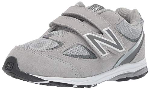 New Balance Boys' 888v2 Hook and Loop Running Shoe, Grey, 12 M US Little ()