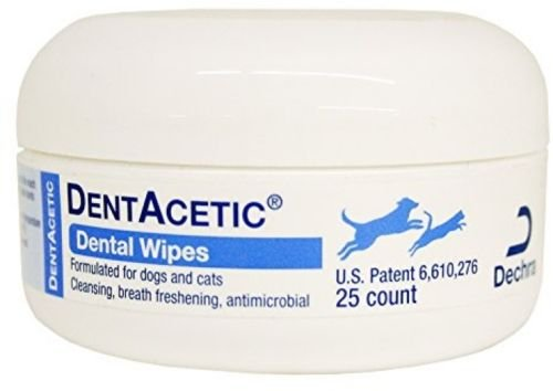 Dentacetic Dog (Dechra DentAcetic Dental Wipes for Cats and Dogs 25 ct)