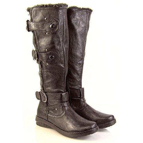 GenericL823 - Stivali lunghi donna, Marrone (marrone), 37