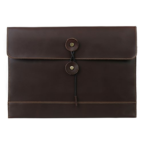 - Leathario Leather Envelope Folder Case Portfolio Mens Clutch Portfolio Sleeve Case for MacBook Air 11.6 inch,12 inch Apple Ipad Padfolio File folder A4 document organizer Brown