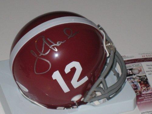 John Hannah Autographed Alabama Crimson Tide Mini Helmet JSA COA Autographed Patriots Pro Helmet