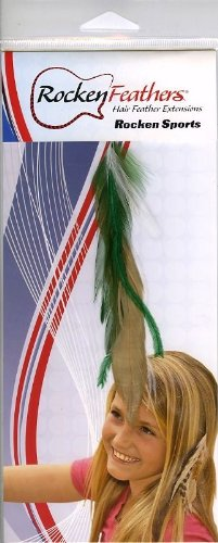 Rocken Feathers Sports Natural Hair Extensions Hand Made in the USA – University of Ohio Colors!!