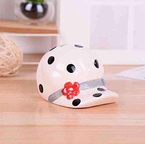 Goodscene Cartoon Piggy Bank Hat Piggy Bank Interesting Ceramic Crafts Kids Presents (Black) by Goodscene