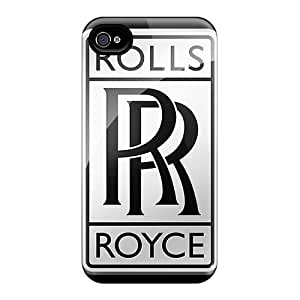 High Quality Phone Covers For Iphone 4/4s With Allow Personal Design Beautiful Rolls Royce Logo Pictures PhilHolmes