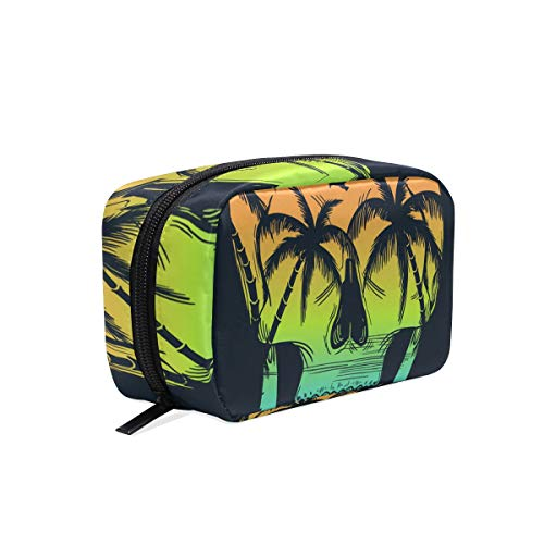 - Makeup Bag Portable Travel Cosmetic Train Case Beach Print With Skull Illustration For T-Shirt And Other Uses673946608 Toiletry Bag Organizer Accessories Case Tools Case for Beauty Women
