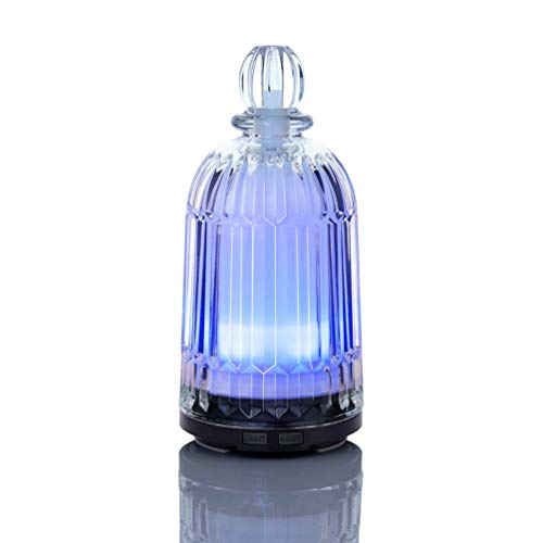 Gocheer 120ml Essential Oil Diffusers Ultrasonic Aroma Aromatherapy Diffuser Humidifier with 7 Color Night LightsSleep Mode, Waterless Auto-Off, BPA-Free for Home, Office & Bedroom