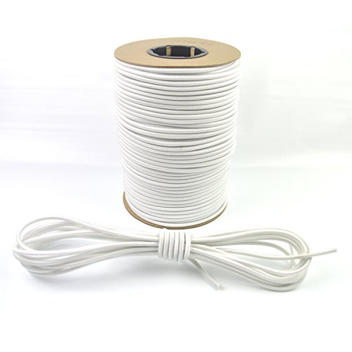 Marine Masters 1/4'' White Bungee / Shock Cord 15ft - 500ft Variations (500ft Spool) by Marine Masters