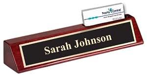 Engraved Desk Wedge & Business Card Holder