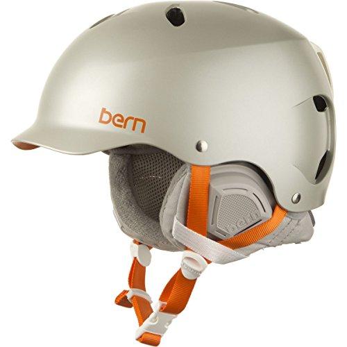 Bern Lenox Snowboard Helmet Womens (Satin Delphin Grey, M/L)