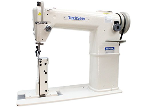 TechSew 810 Post Bed Industrial Sewing Machine with Assembled Table & Servo Motor