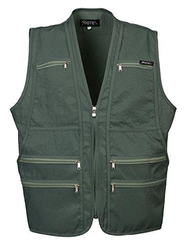 Beat the World Men's Multi-pocketed Gilet Safari Waistcoat 9 Pockets Size Small to Xl (L, (Pocket For Safari)