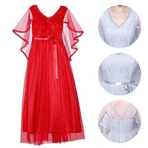 f1c83c6504183 De Rouge 4 Pour Fête Demoiselle Mariage 5 Femme Disponibles Bozevon Robe  Longues Robes Styles D honneur Soirée Uq6XCBxCw