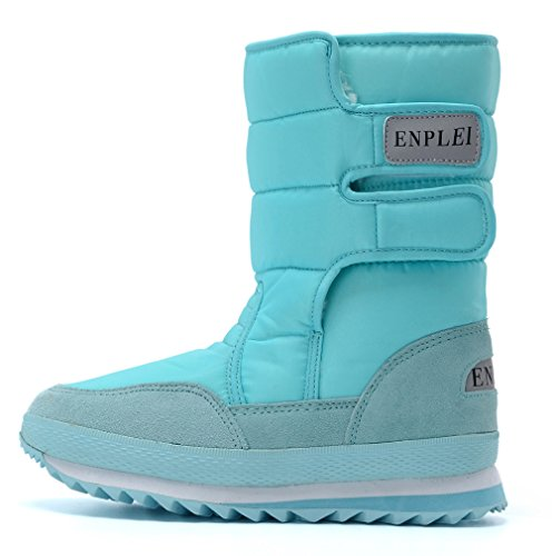 Women's Boot Waterproof DADAWEN Snow Blue Frosty ep 0H1xfwqx