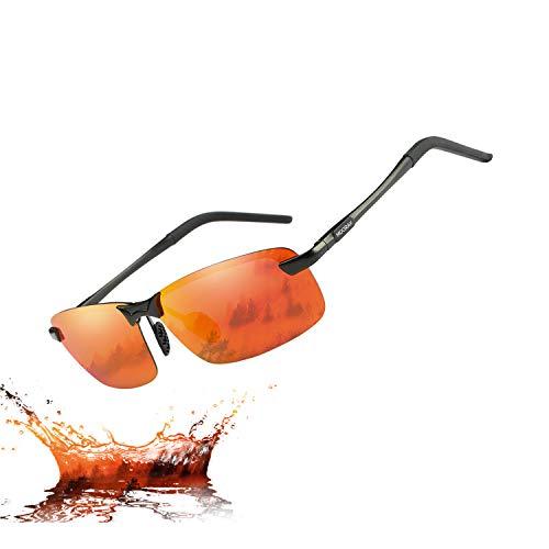 MOORAY Polarized Sunglasses for Men UV Protection Mens Sport Sunglasses for Driving Fishing]()