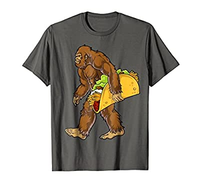 Bigfoot Carrying Taco T shirt Cinco de Mayo Boys Sasquatch