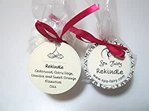 Rekindle - Cedarwood, Clary Sage, Vanilla, Sweet Orange Essential Oils Bath Bomb Weekend Pack. Two Large All Natural Bath Bombs with Organic Essential Oils, Shea Butter and Cocoa Butter. Enjoy a Moisturizing Lush Aromatherapy Bath. Refill Your Set of Spa Fairy Bath Bombs with This 2-Pack of Your Favorite Scents.