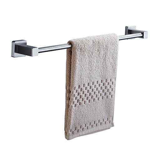 (ZfgG 24'' Single Towel Bar,304 Stainless Steel,Towel Rail Wall Hanging,Towel Holder Bathroom Kitchen,Brushed Finish,Storage Shelf)