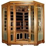Canadian Red Cedar FIR Infrared Carbon Fiber Corner Sauna, Four 4 Person