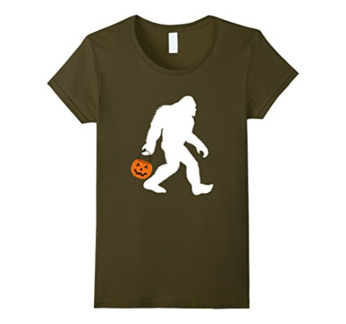 Womens Bigfoot Halloween Costume Shirt Funny for Men Women Boy Girl Medium Olive