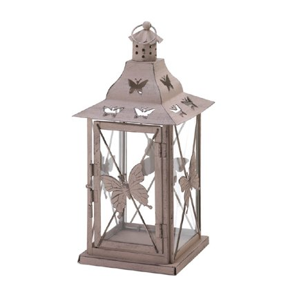 Butterfly Lantern (Koehler Home Garden Outdoor Decorative Pretty Hanging Butterfly Candle Lantern)