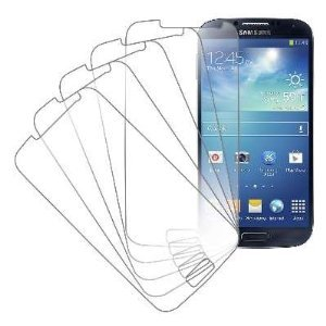 eTECH Collection 5 Pack of Crystal Clear Screen Protectors for Samsung©Galaxy S4 / S IV /i9500 (Best Screen Protector For Samsung Galaxy S4)
