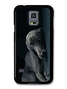 Weimaraner Dog Cute Cool Sleepy Black Dog Blue Eyes case for Samsung Galaxy S5 mini