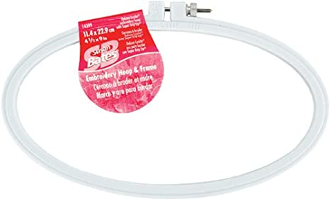 Susan Bates Plastic Deluxe Super Grip Embroidery Hoop, 4-Inch Notions - In Network 14399-4