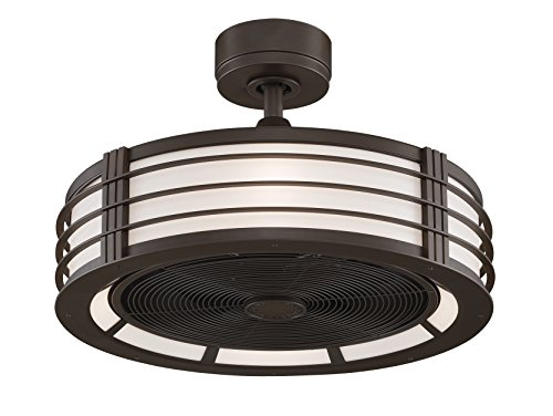 Oil Fanimation Bronze (Fanimation Beckwith FP79640B Ceiling Fan with Frosted Shade Light Kit and Remote, 13-inch, Oil-Rubbed Bronze)