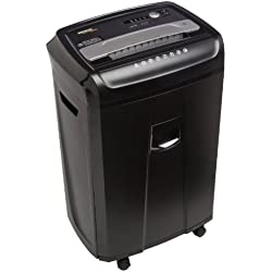 AmazonBasics 24-Sheet Cross-Cut Paper, CD, and Credit Card Shredder with Pullout Basket