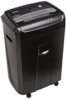 Amazonbasics 24-sheet Cross-cut Paper, Cd, & Credit Card Shredder With Pullout Basket 0