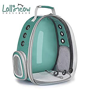 Lollimeow Pet Carrier Backpack, Bubble Backpack Carrier, Cats and Puppies,Airline-Approved, Designed for Travel, Hiking…