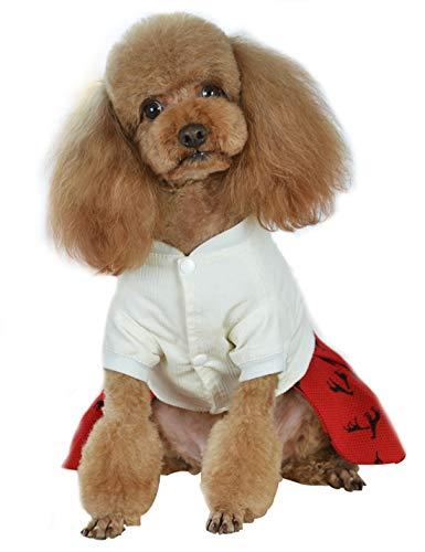 TENRUN Pet Clothes Boy Dog Girl Dog Lover Shirt, Cat Puppy Pet Spring Summer Vest T Shirt Size S (FRed)