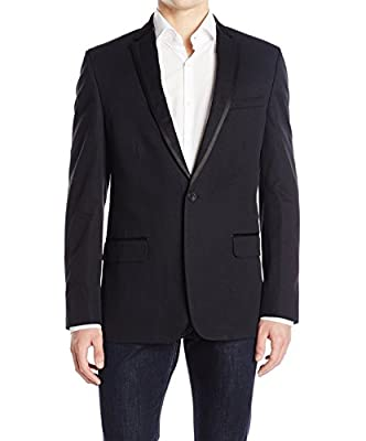 Calvin Klein Men's PD Dobby Tux Jacket with Satin Trim
