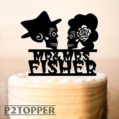 Skull Cake Topper,Wedding Cake Topper,Till Death Do Us