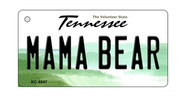 Amazon Com Smart Blonde Mama Bear Tennessee License Plate Key Chain Kc 6647 Sports Outdoors