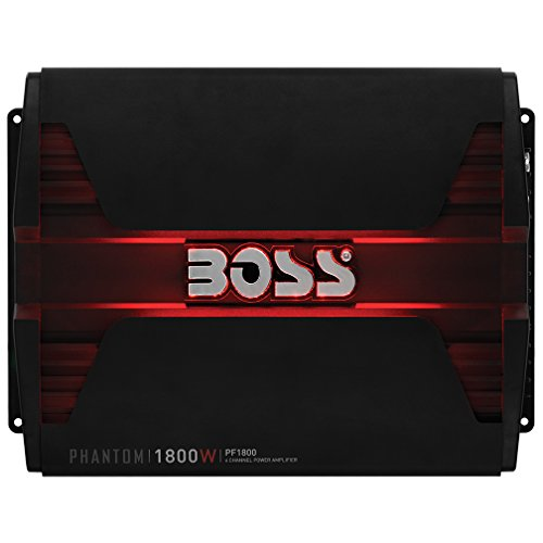 BOSS Audio PF1800 Phantom 1800 Watt, 4 Channel, 2/4 Ohm Stable Class A/B, Full Range, Bridgeable, MOSFET Car Amplifier with Remote Subwoofer (Mercury Amp)